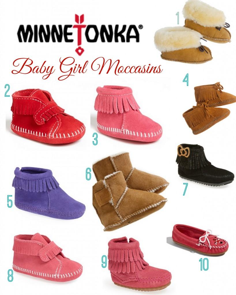Baby Girl Minnetonka Moccasins