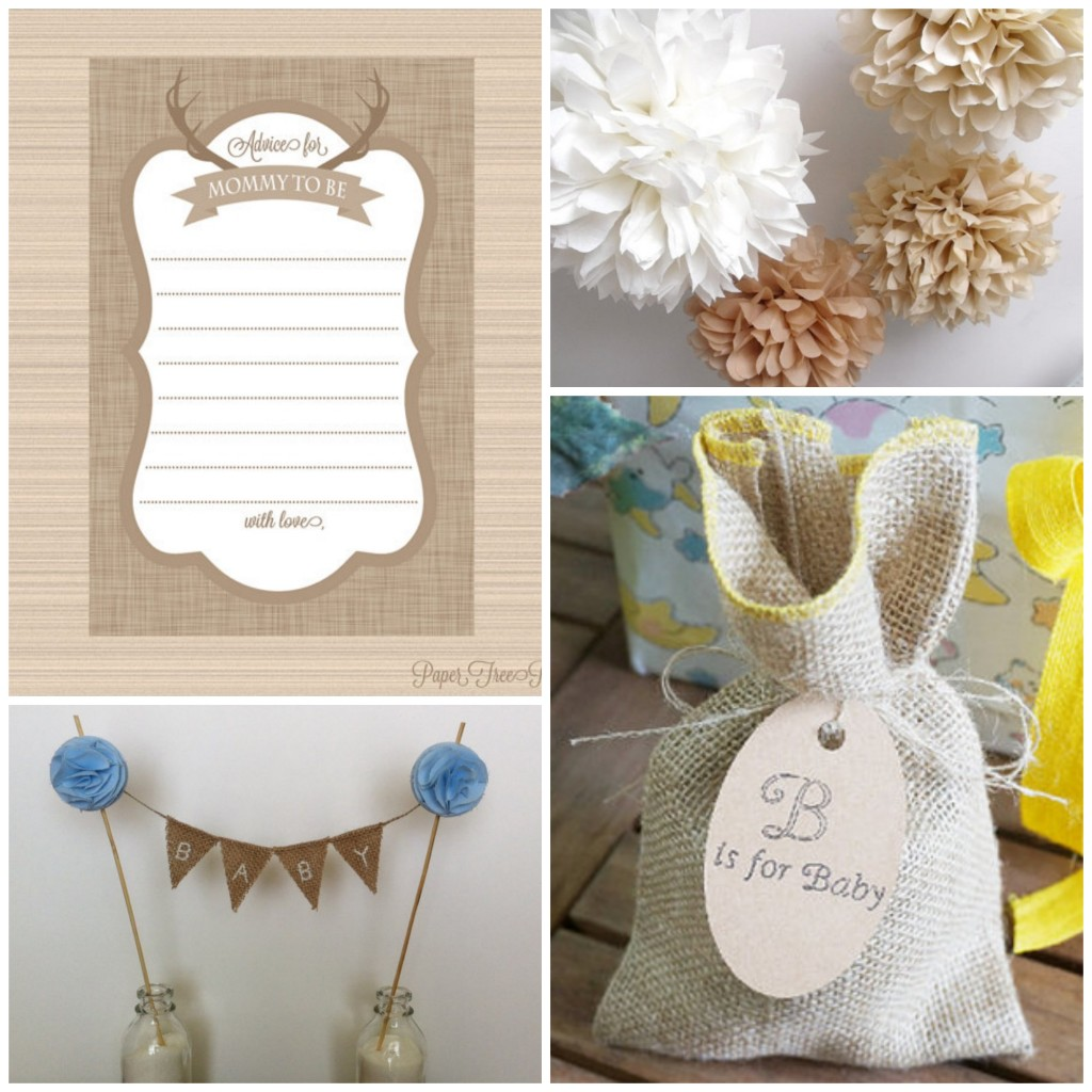 Burlap Baby Shower