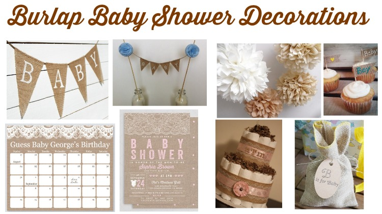 burlap baby shower decorations