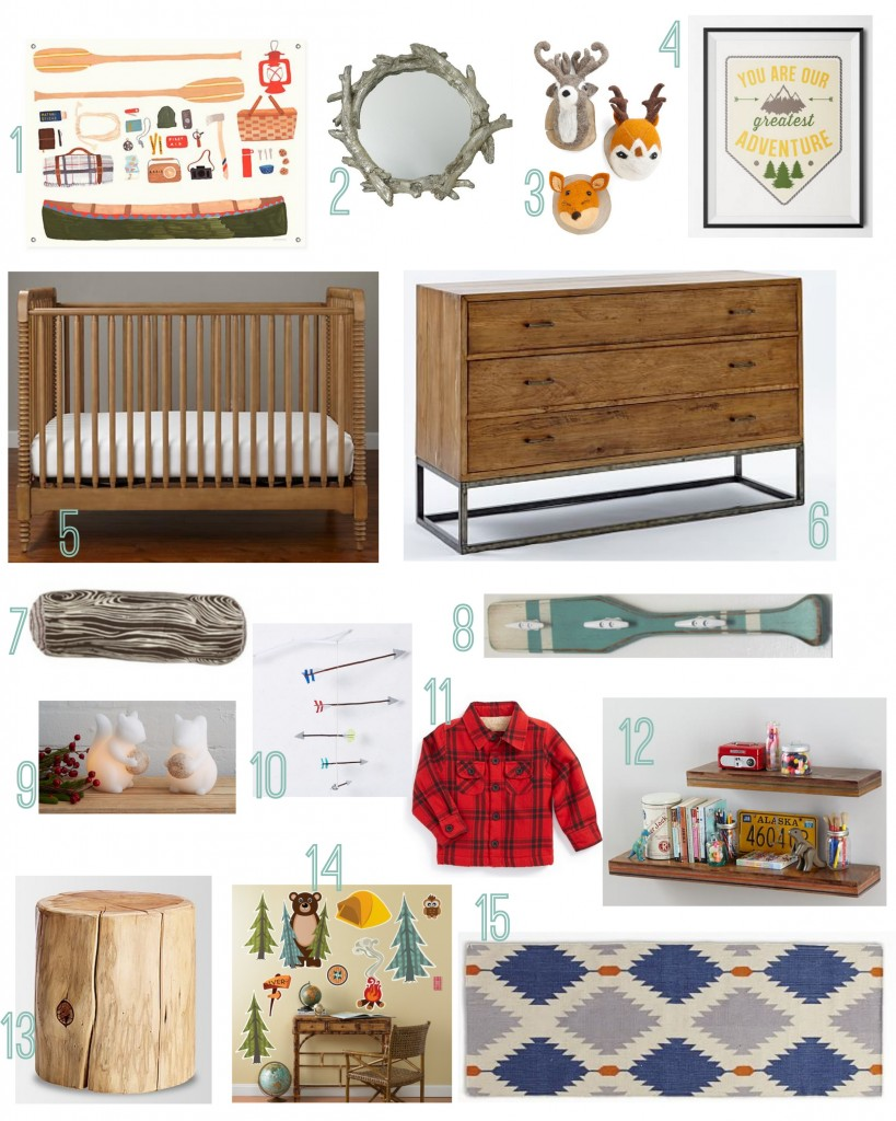 Camp Themed Baby Nursery