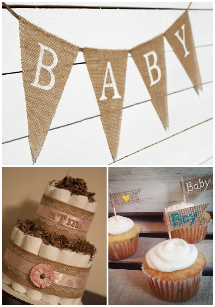 Decorations For A Burlap Baby Shower