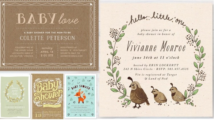 Gender Neutral Rustic Baby Shower Invitations - Rustic Baby Chic