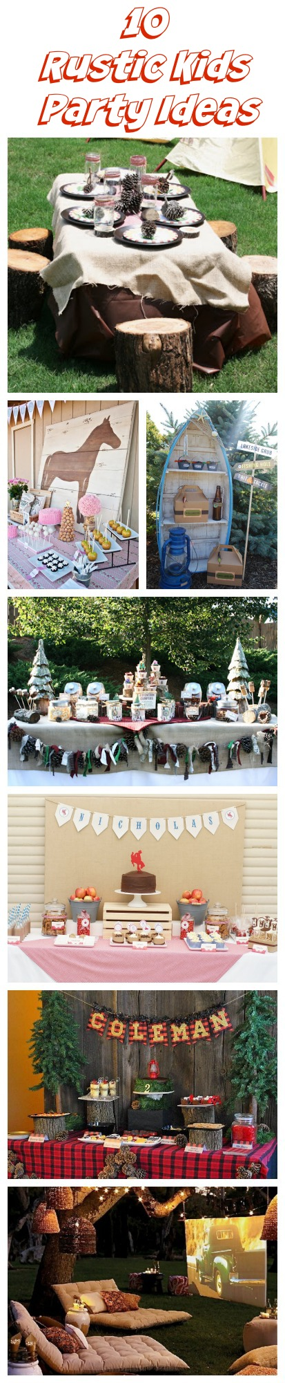 Rustic Kids Birthday Party Ideas