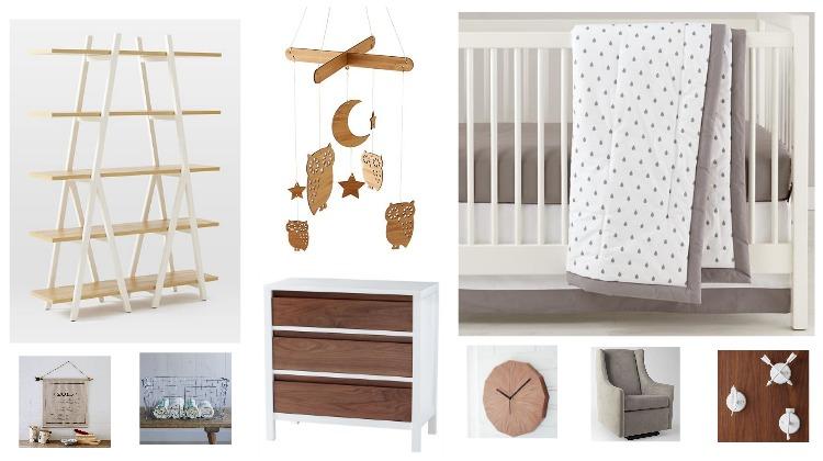 Wood & White Rustic Baby Nursery