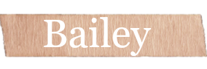 Bailey Girls Name