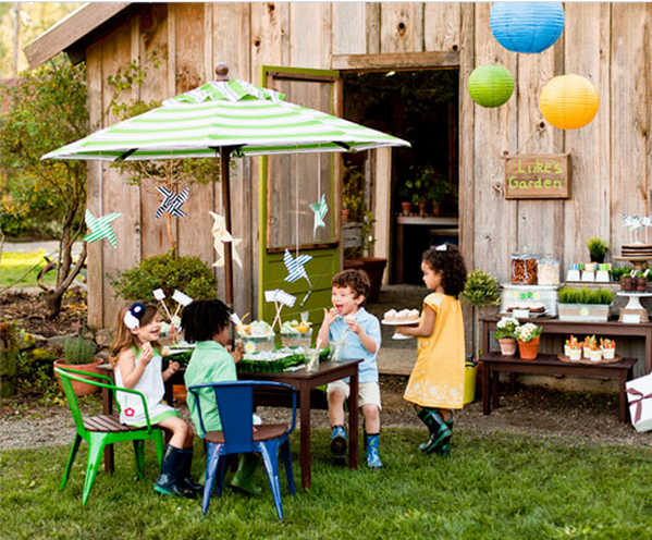 Backyard Kids Garden Birthday Party Rustic Baby Chic