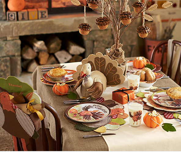 Thanksgiving Kids Table Decorating Ideas