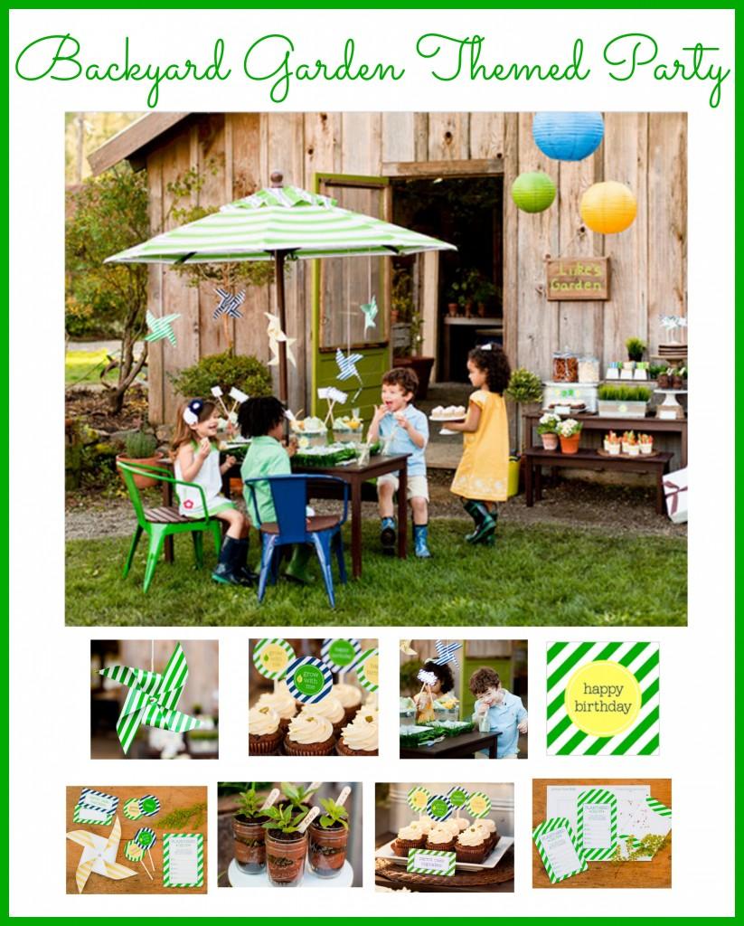 How To Throw A Garden Themed Backyard Party