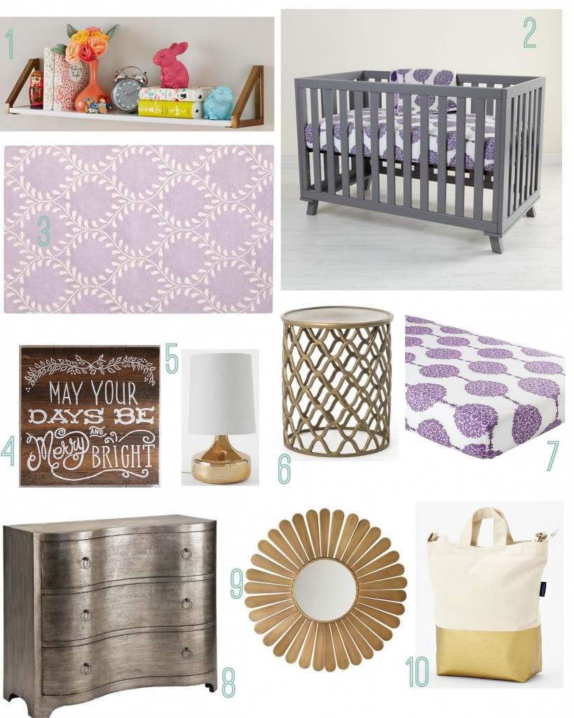 Gold boho nursery : Boho chic baby girl rustic nursery