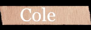 Cole Boys Name