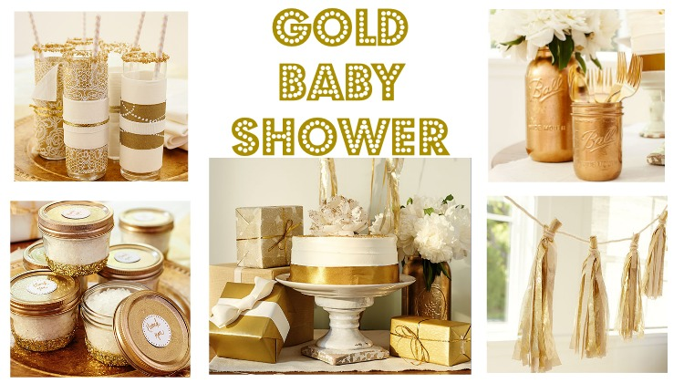 gold baby shower rustic baby chic