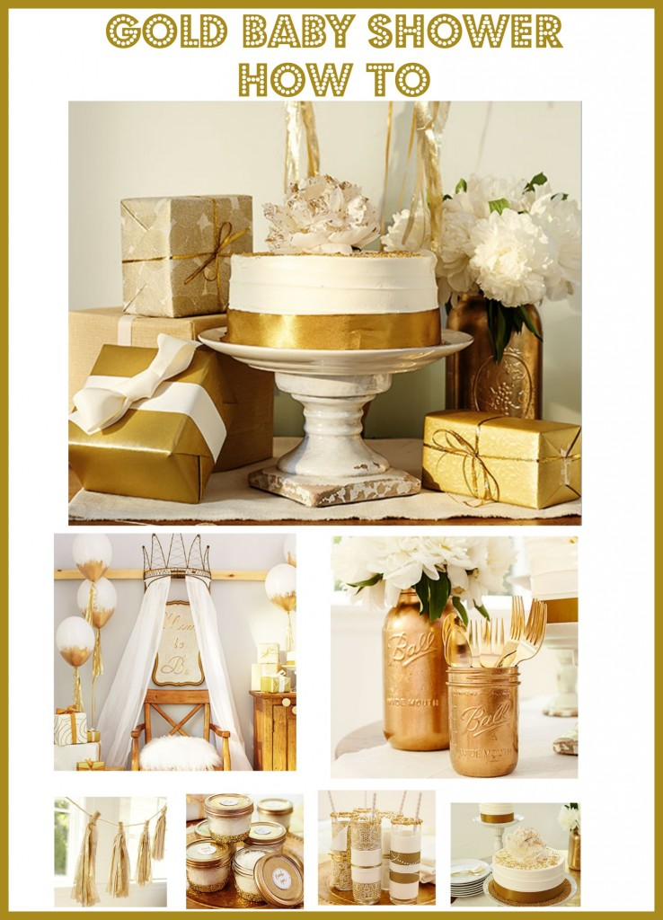 How To Throw The Ultimate Gold Themed Baby Shower