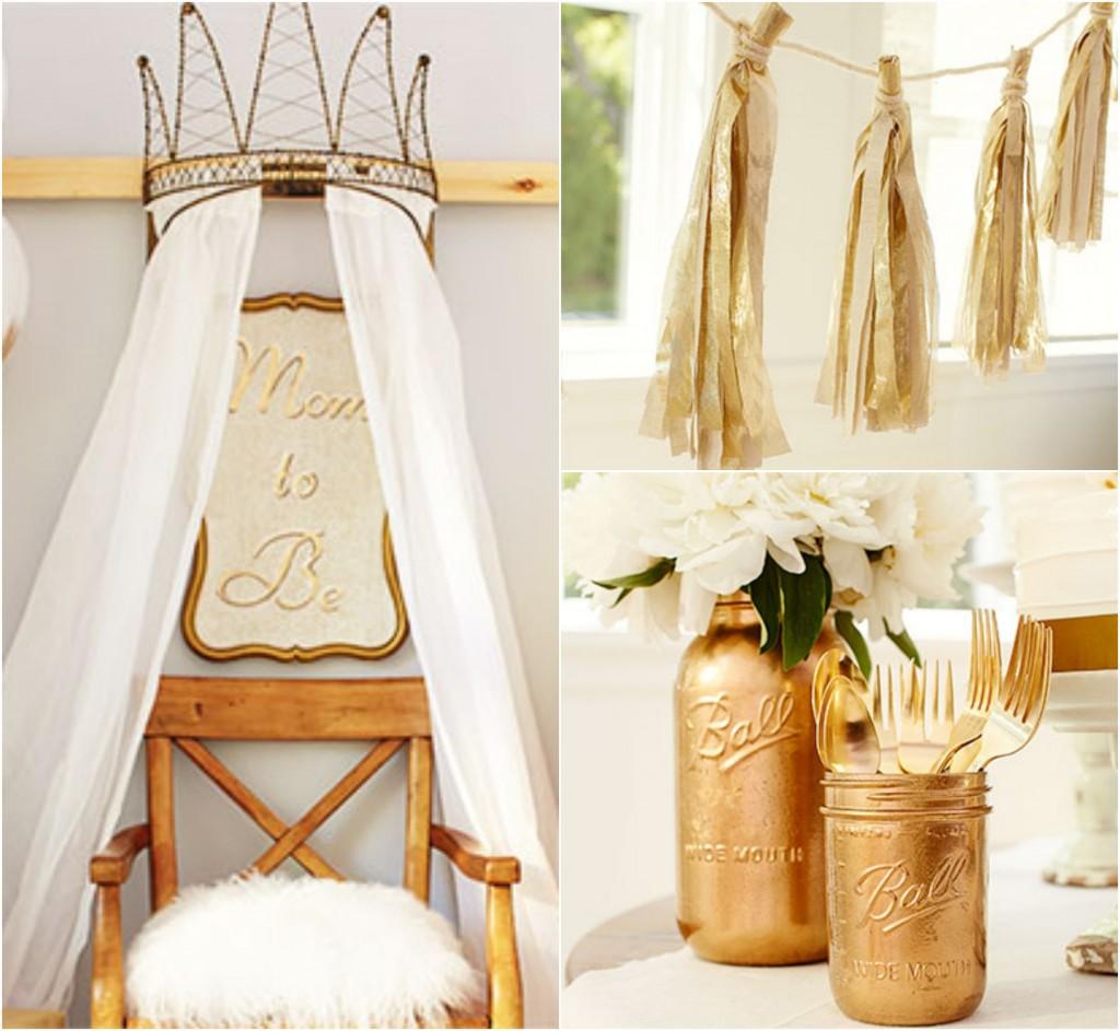 Gold Baby Shower Idea