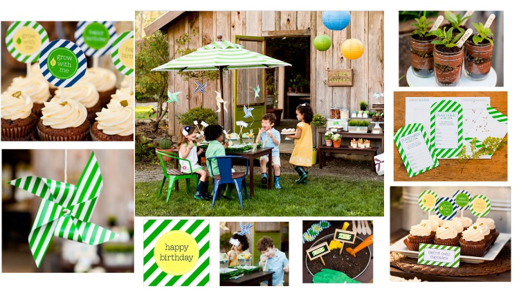 Backyard Kids Garden Birthday Party - Rustic Baby Chic