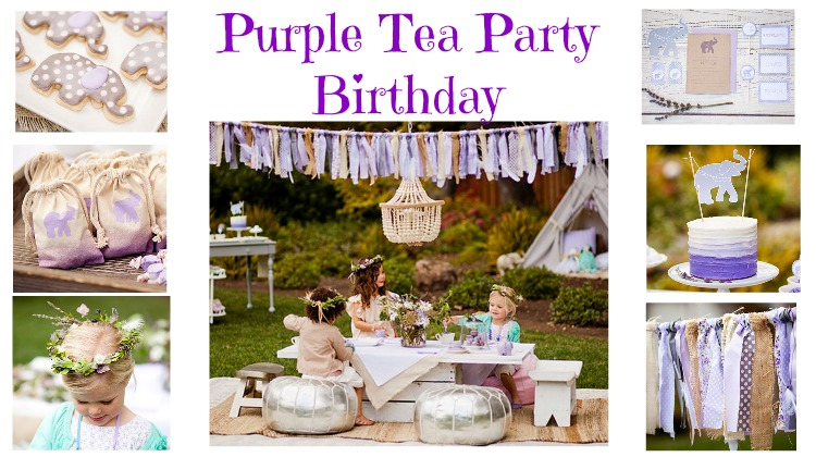 Purple Tea Party Birthday