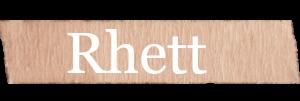 Rhett Boys Name