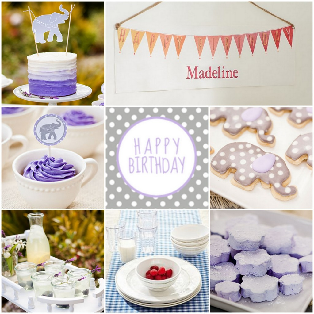 Purple Tea Party Birthday Party