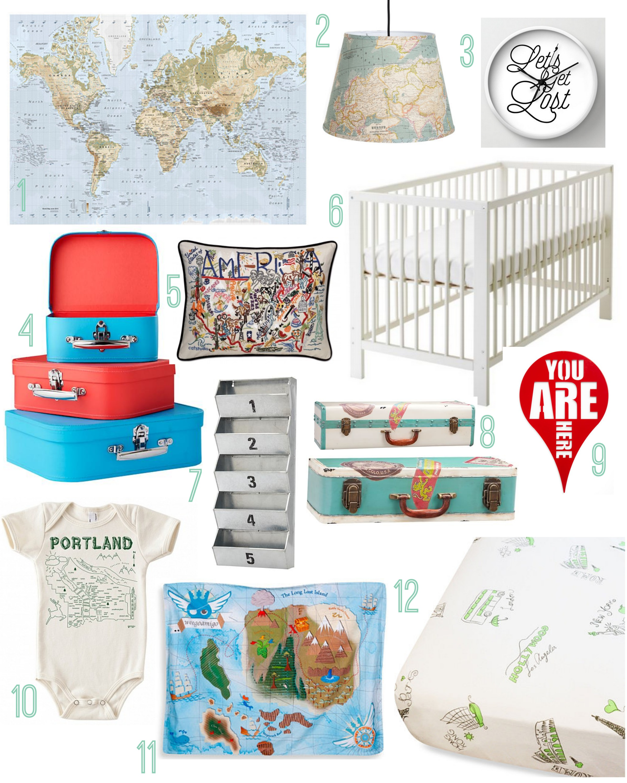 Travel The World Nursery Rustic Baby Chic