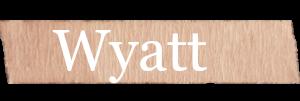 Wyatt Boys Name