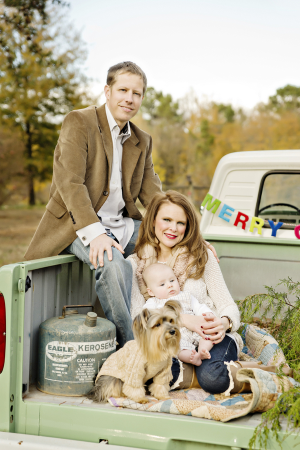Rustic Holiday Family Photo Session Rustic Baby Chic