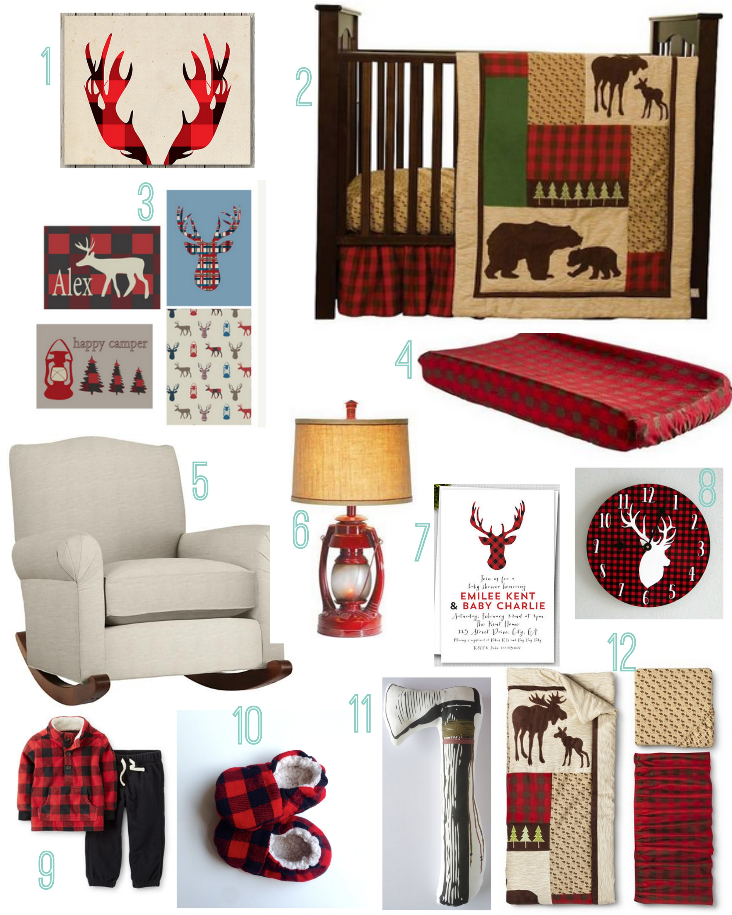 Buffalo Plaid Baby Nursery Rustic