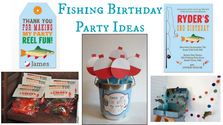 Fishing Boys Birthday Party Rustic Baby Chic