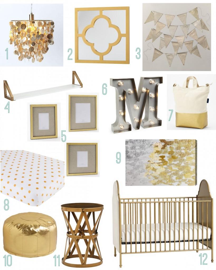 Gold Themed S Nursery