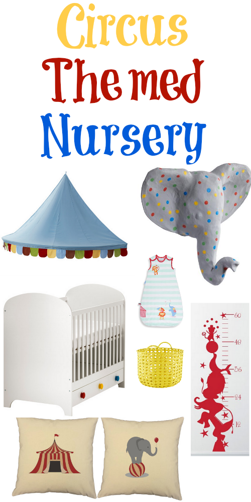 Circus themed nursery rustic baby chic for Circus themed bedroom ideas