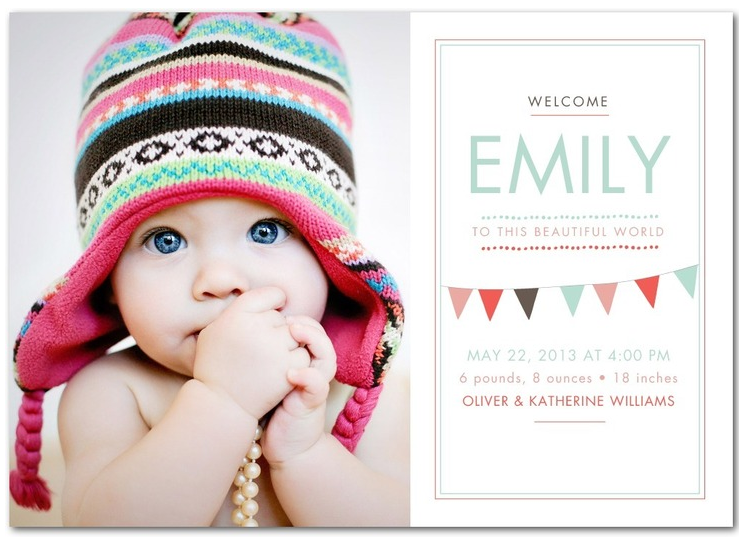 rustic baby girl birth announcements rustic baby chic