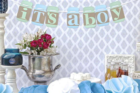Mason Jar Baby Shower Decoration