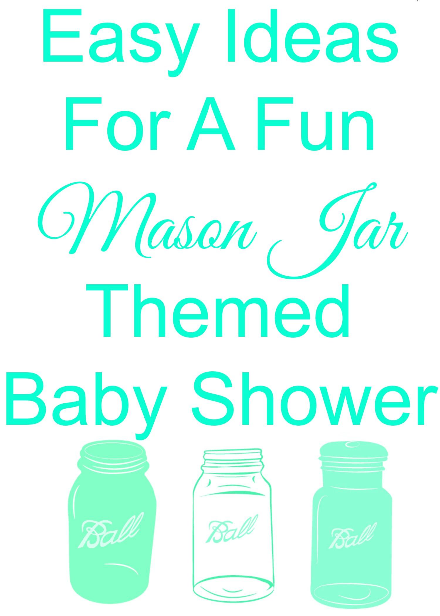 Mason Jar Baby Shower Rustic Baby Chic