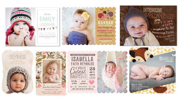 Birth Announcements Rustic Style For Girls