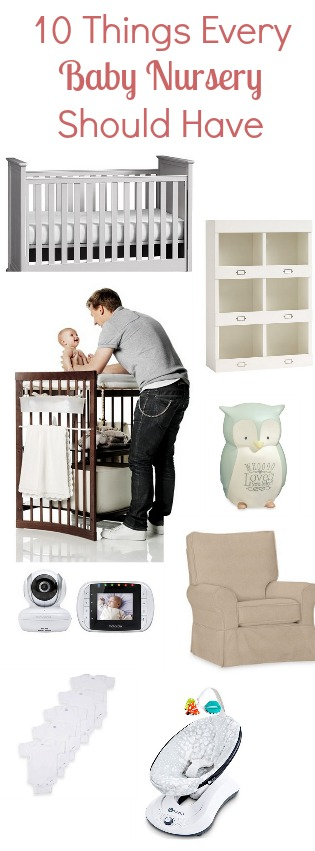 Great list of 10 things every baby nursery should have