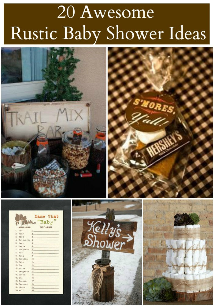 20 rustic baby shower ideas rustic baby chic