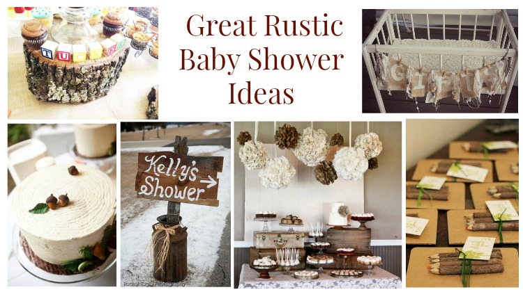 rustic baby shower ideas