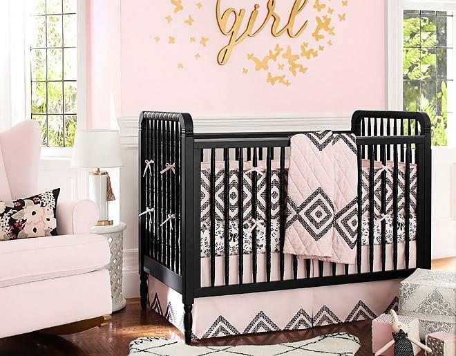Pink Tribal Print Nursery Rustic Baby Chic