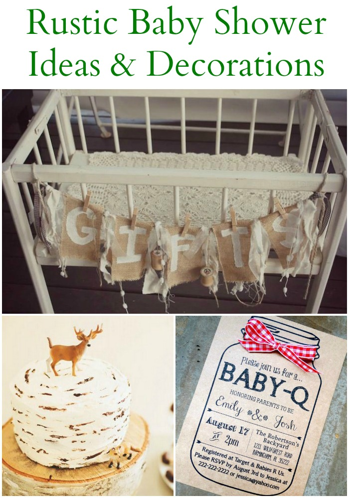 20 rustic baby shower ideas rustic baby chic for Baby shower decoration supplies