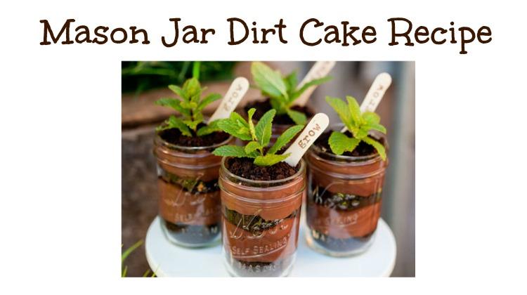 Mason Jar Dirt Cake