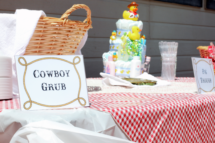 Cowboy Theme Baby Shower