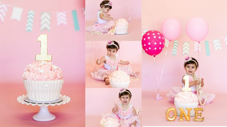 One Year Smash the Cake Session - Rustic Baby Chic
