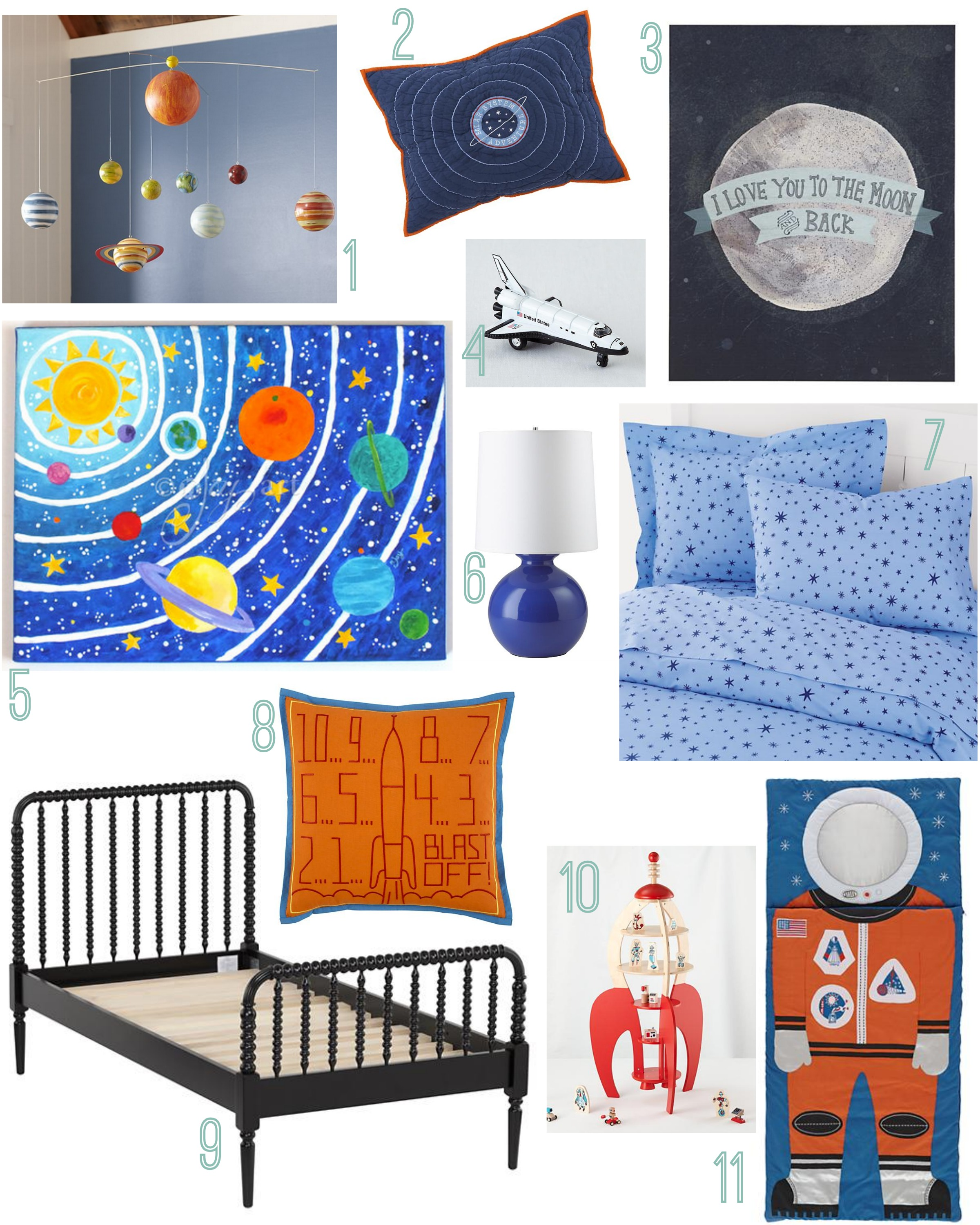 space themed room rustic baby chic