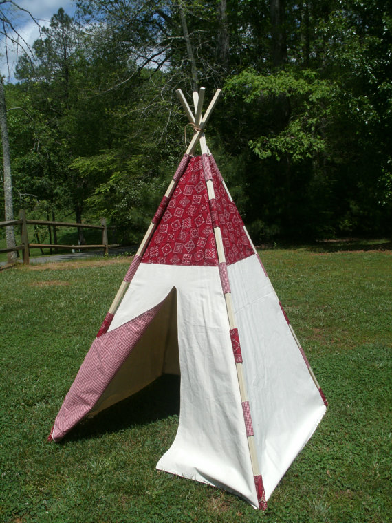 Teepee Ideas For Kids Room from Rustic Baby Chic