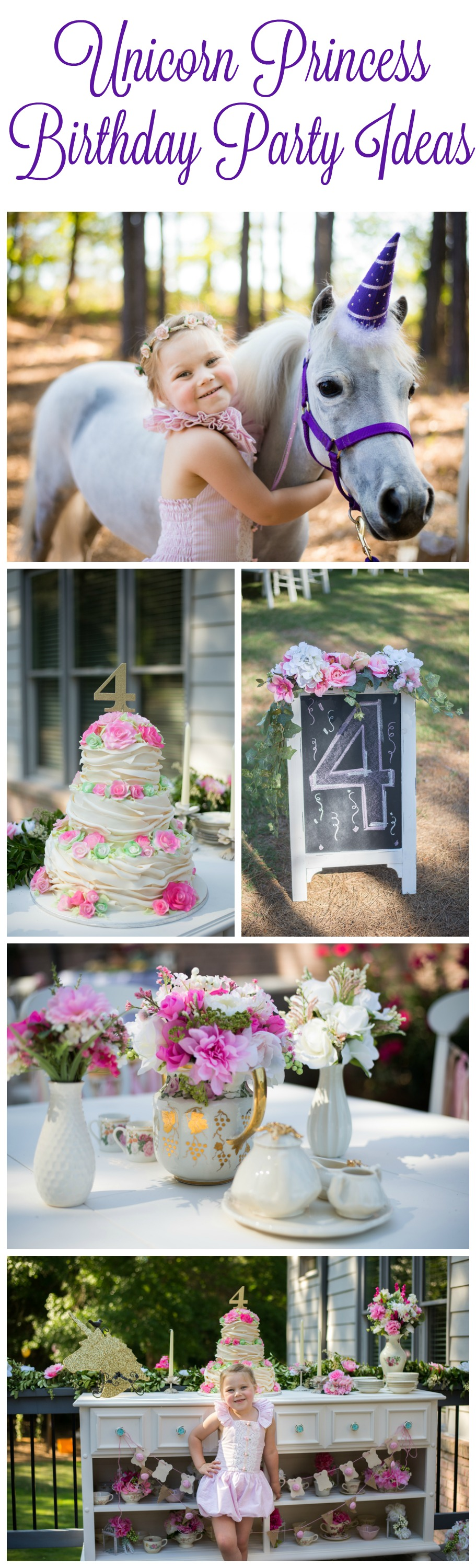 Whimsical Princess Unicorn Party Rustic Baby Chic