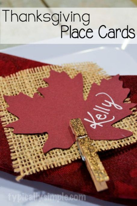 10 creative easy thanksgiving place card ideas rustic