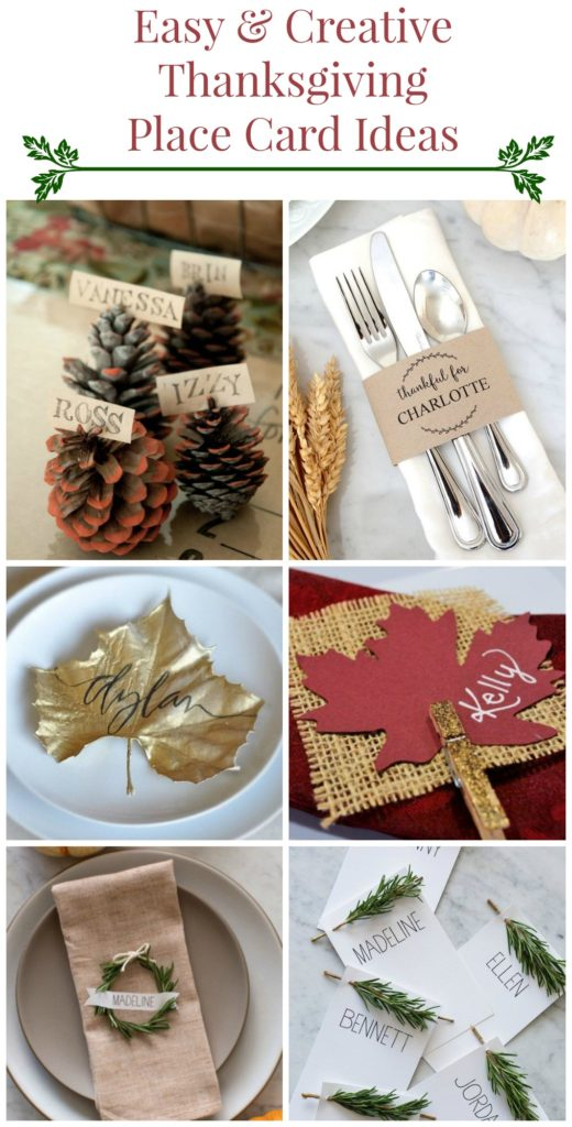 Fun & Easy Thanksgiving Place Card Ideas