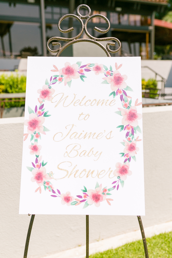 Pink Amp Stripe Themed Baby Shower Rustic Baby Chic
